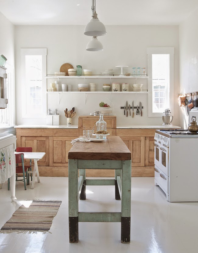 Before and after shabby chic to modern vintage kitchen - Shabby chic modern kitchen ...