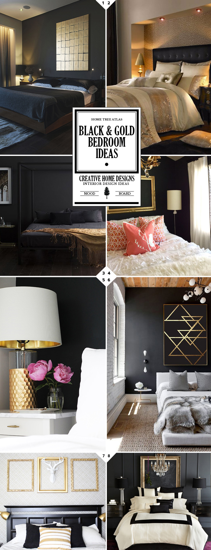 Style guide black and gold bedroom ideas interior design for Black and gold interior design