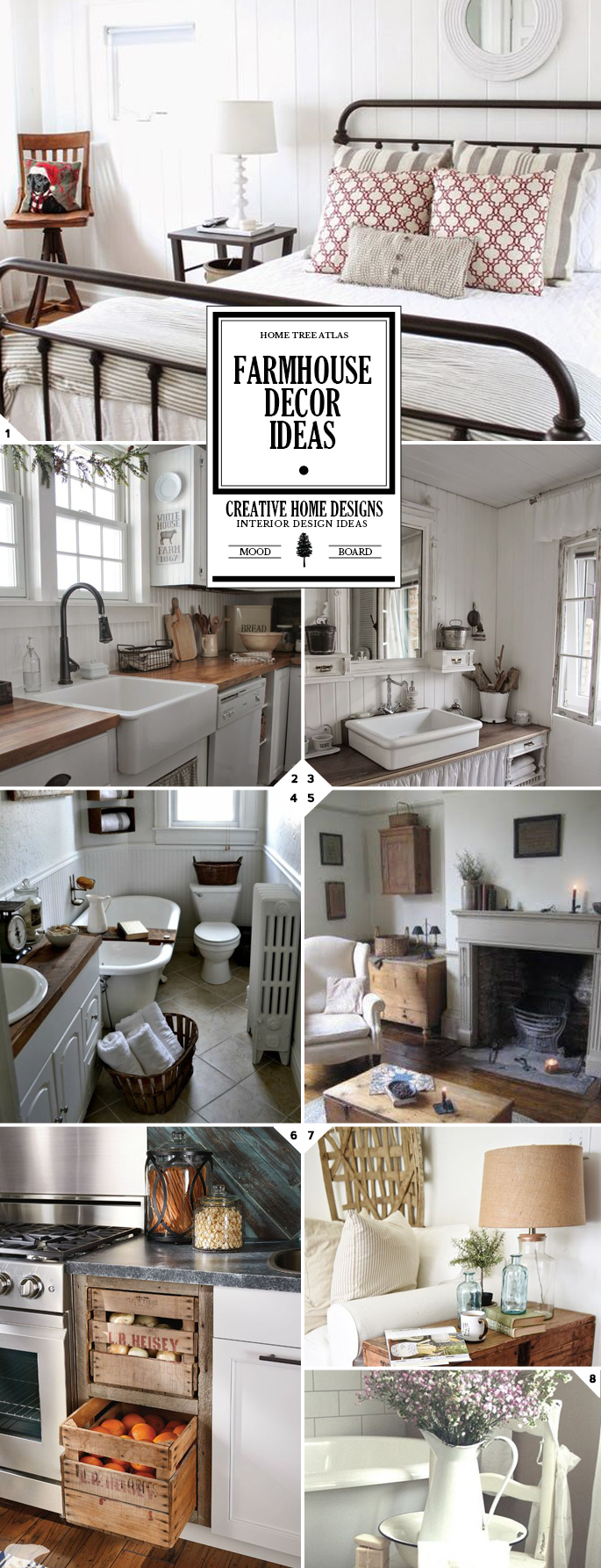 Vintage and rustic farmhouse decor ideas design guide Vintage house decor
