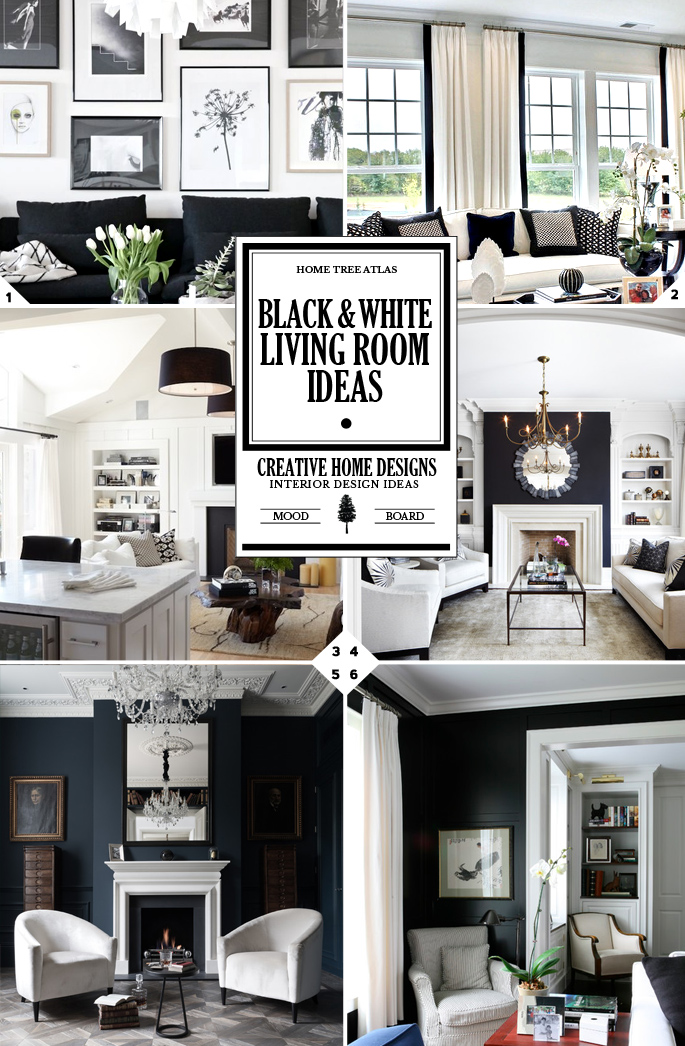 Black and White Living Room Ideas: Style Guide