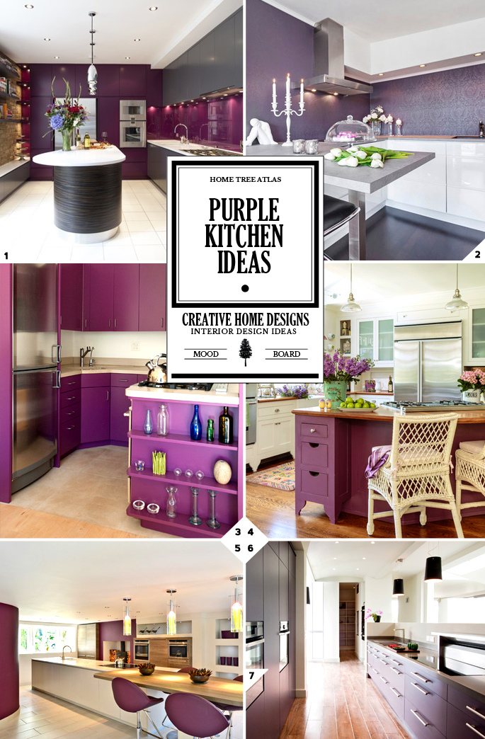 Color Design Guide Purple Kitchen Decor Ideas  Home Tree Atlas