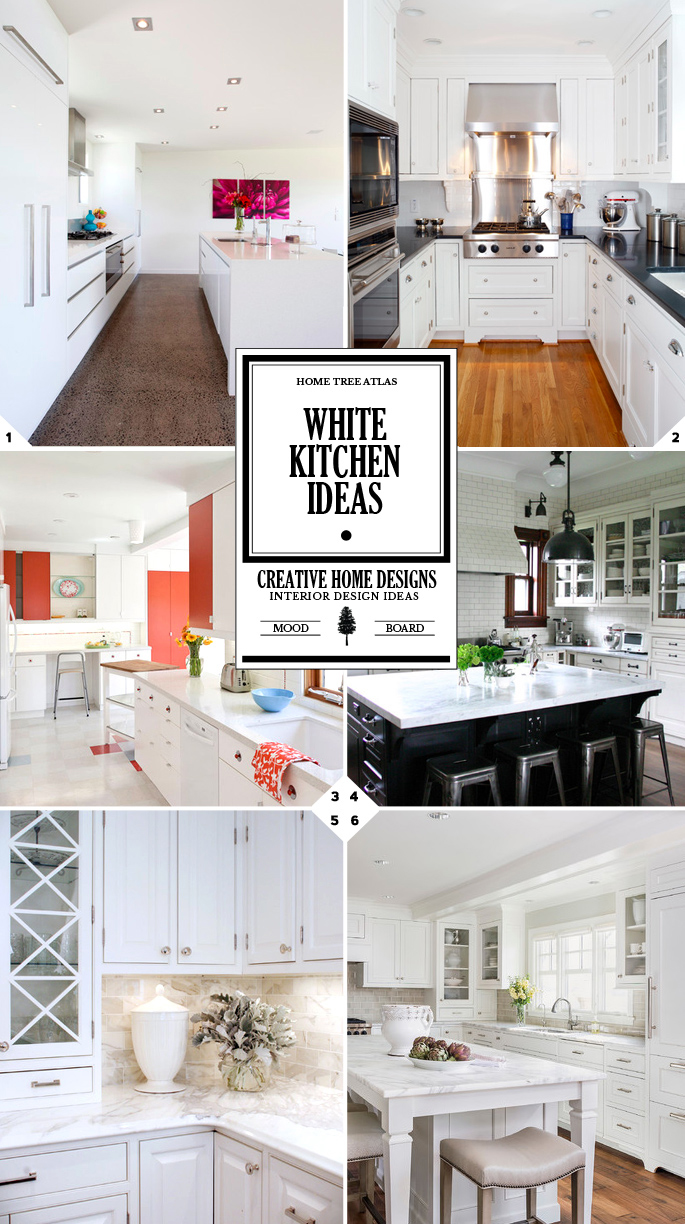 Color Style Guide: White Kitchen Ideas and Designs