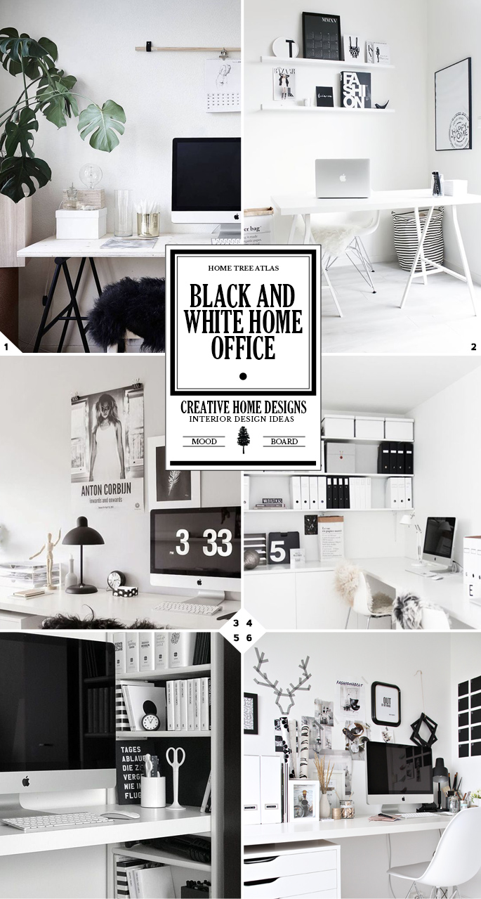 The 3 Steps To Creating A Black And White Home Office