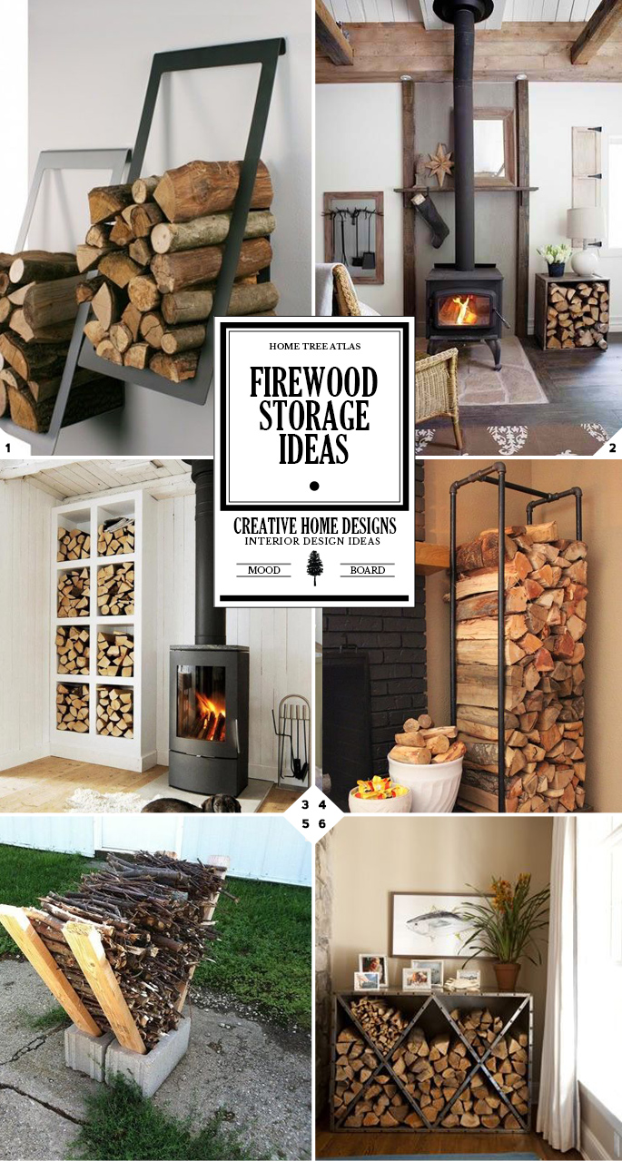 A Crackling Fire Indoor Firewood Storage Ideas Home