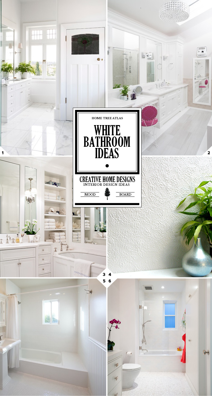 Color style guide all white bathroom ideas interior design for All white bathrooms ideas