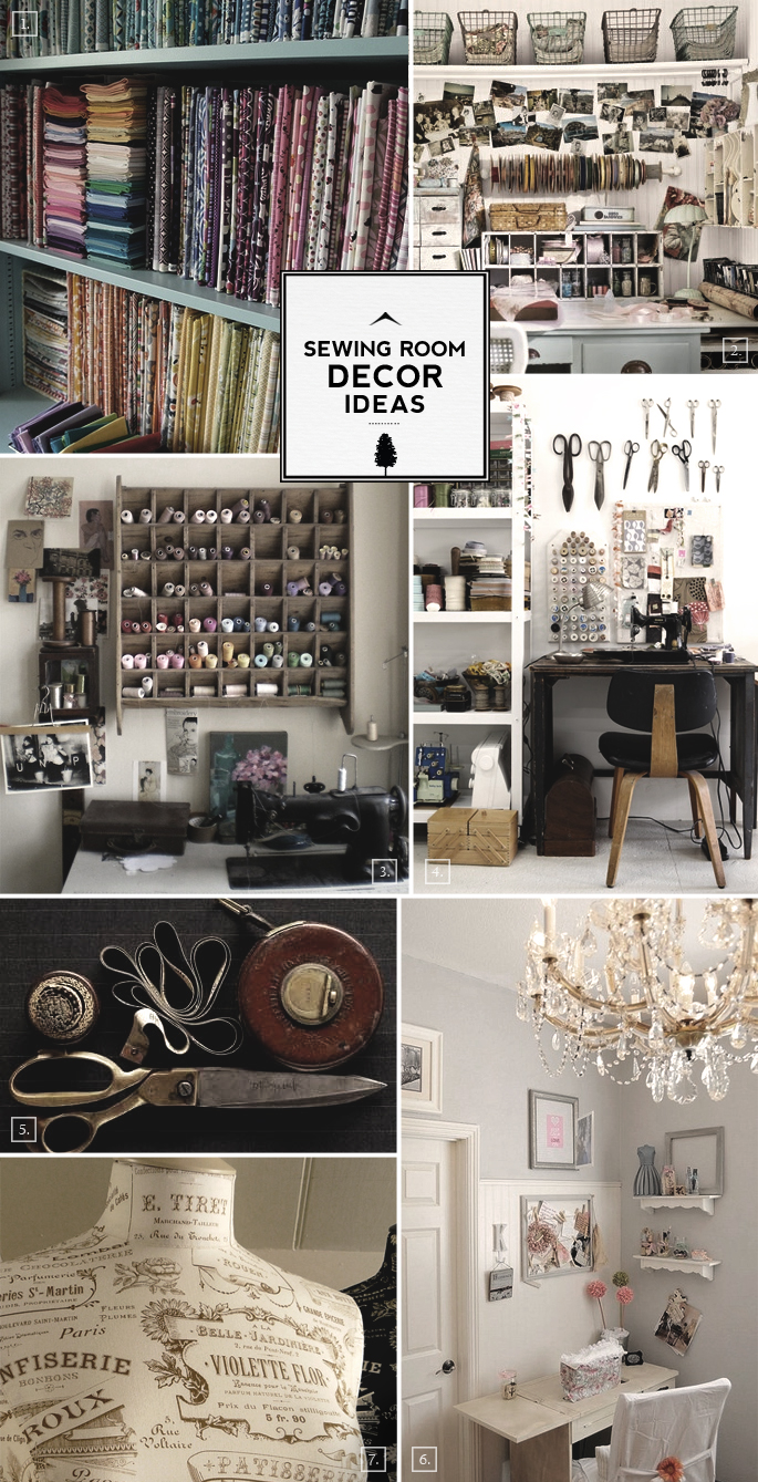 Designing A Sewing Room: Work And Design: Sewing Room Decor Ideas