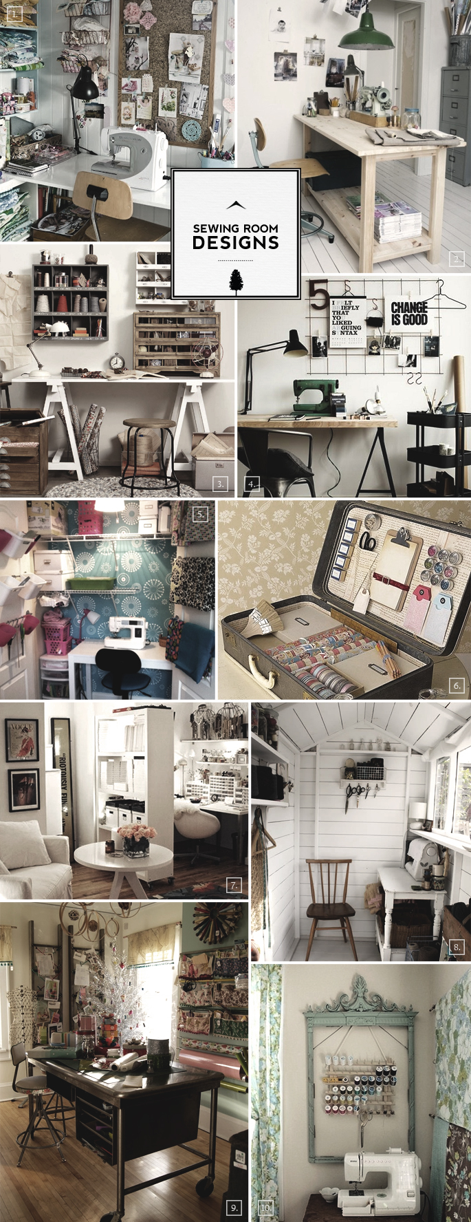 Sewing Room Designs Large And Small To Colorful And