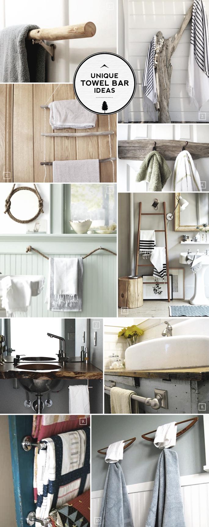 Unique Ideas For Bathroom Towel Bars And Racks Home Tree