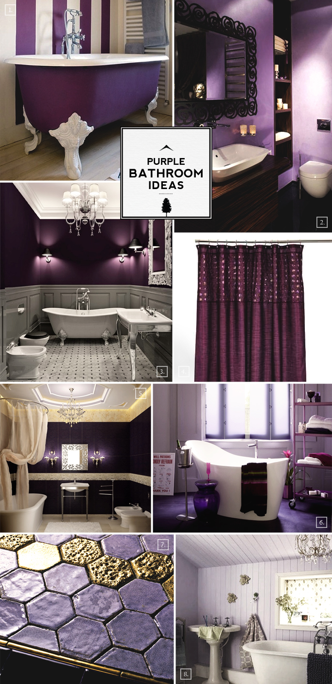 Color Guide Purple Bathroom Ideas And Designs Home Tree