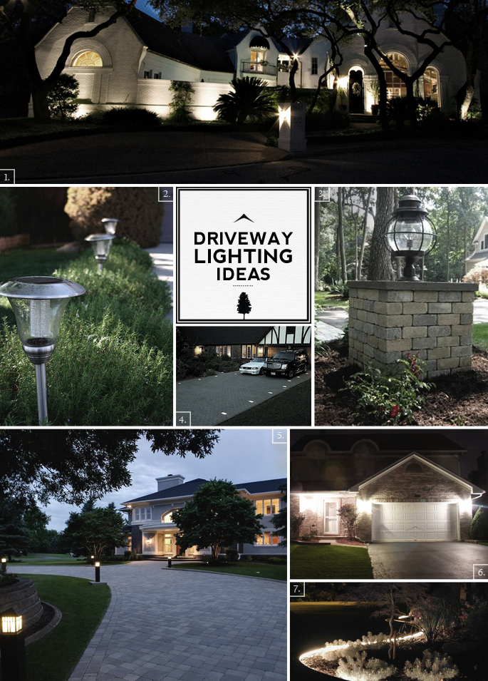 driveway brick lights - Google Search | Brick columns ... |Driveway Entry Lights