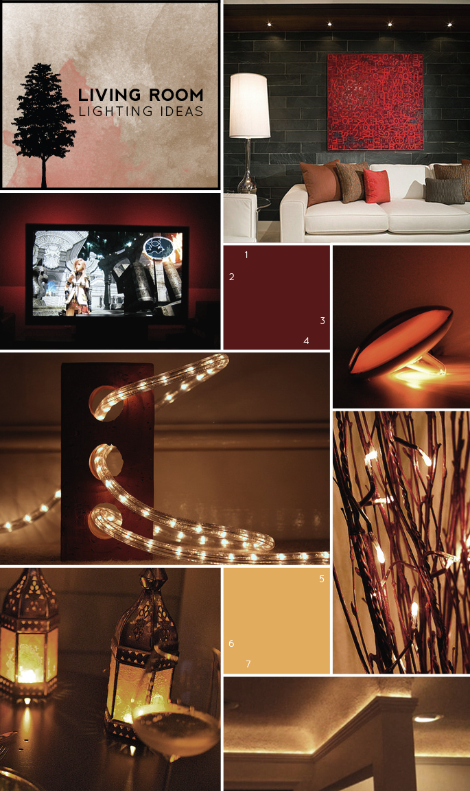 Living Room Lights String Ideas: Relaxing And Cozy Living Room Lighting Ideas