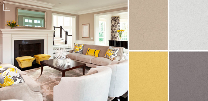 Paint Designs For Living Room: Ideas For Living Room Colors: Paint Palettes And Color