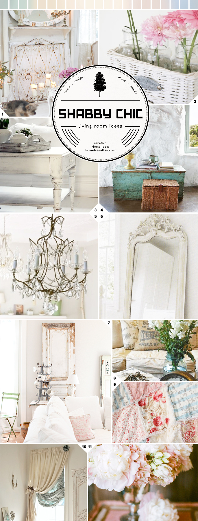 Romance at Home: Shabby Chic Living Room Ideas | Home Tree ...