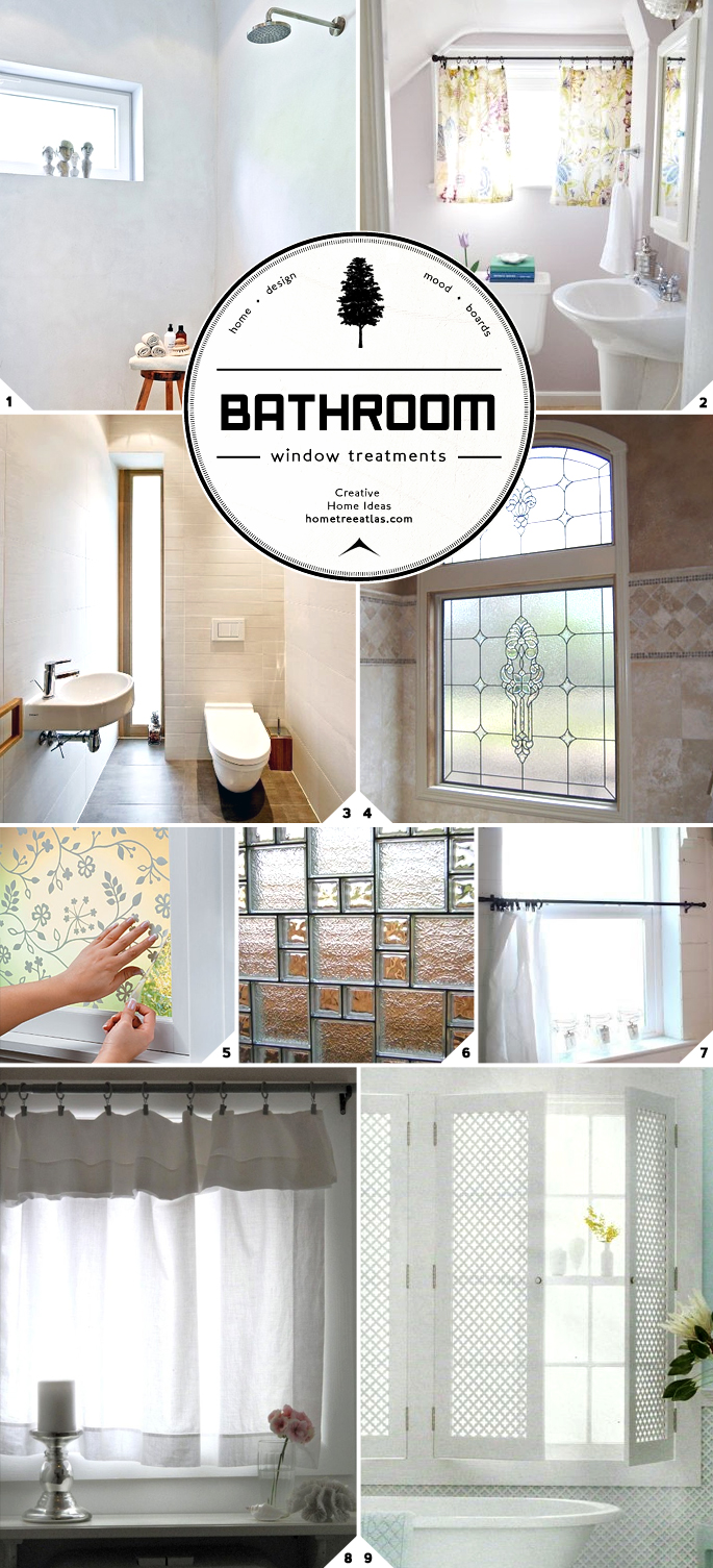 Window Treatment Ideas: Light And Privacy: Ideas For Bathroom Window Treatments