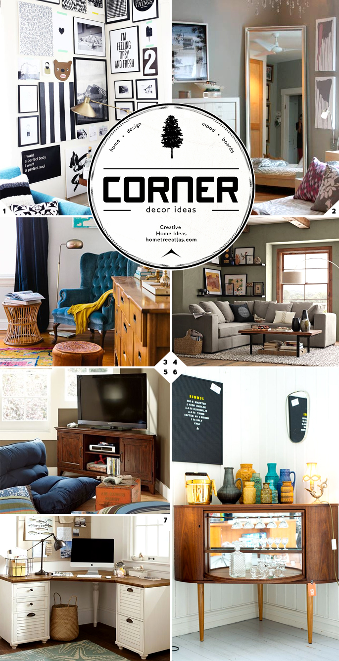 Making use of the corners in a room decor and design - How to decorate a corner ...