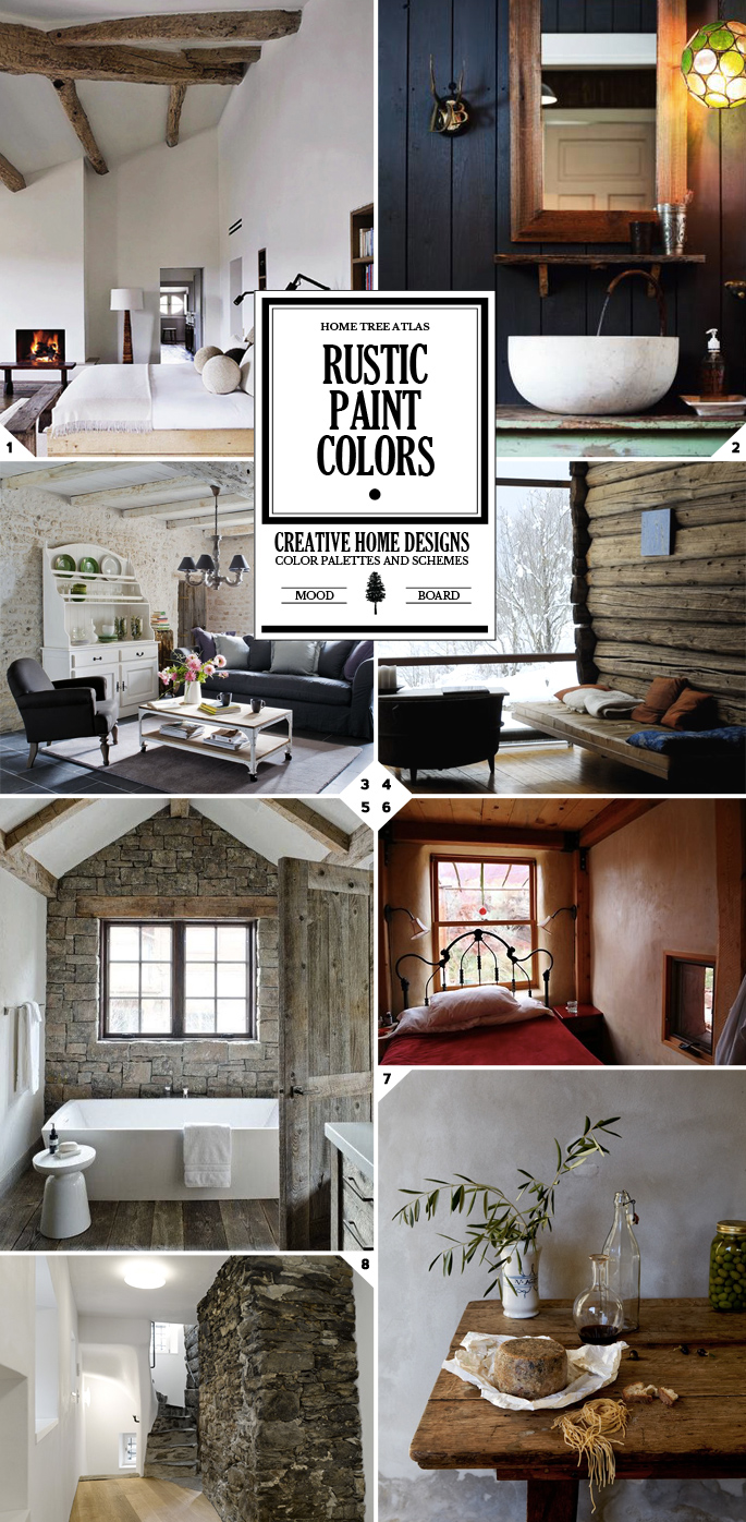 rustic paint colors and textured wall designs interior. Black Bedroom Furniture Sets. Home Design Ideas